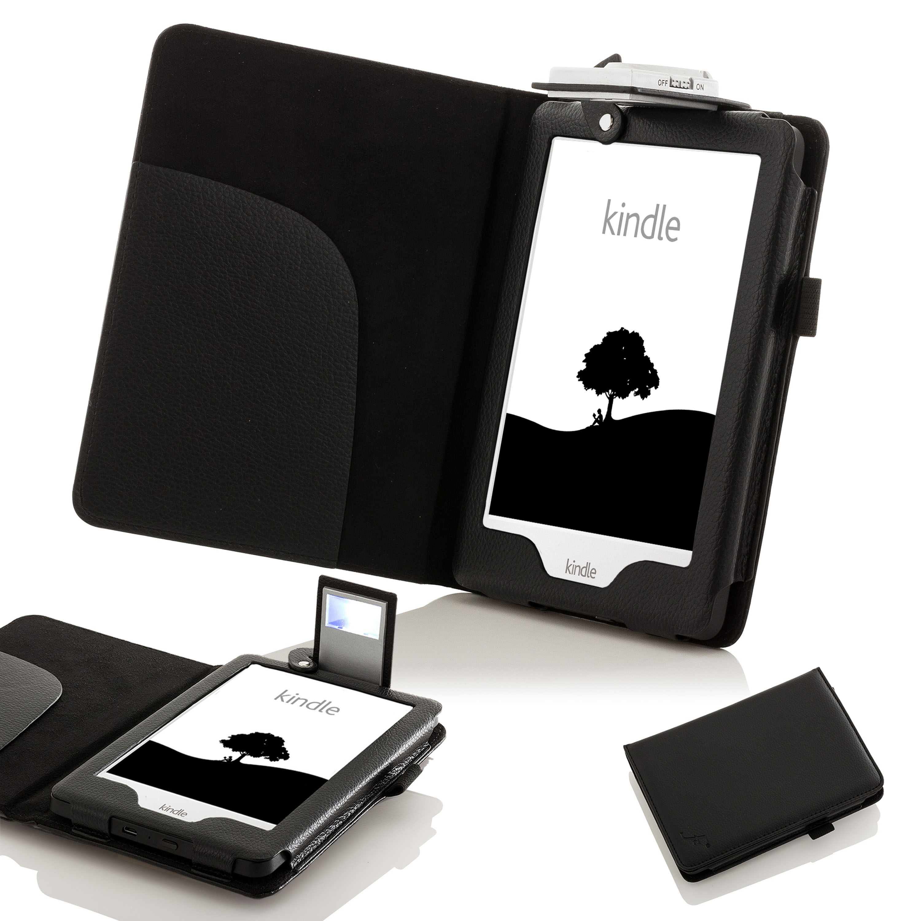 Forefront cases leather case cover with led light amazon for Amazon casa
