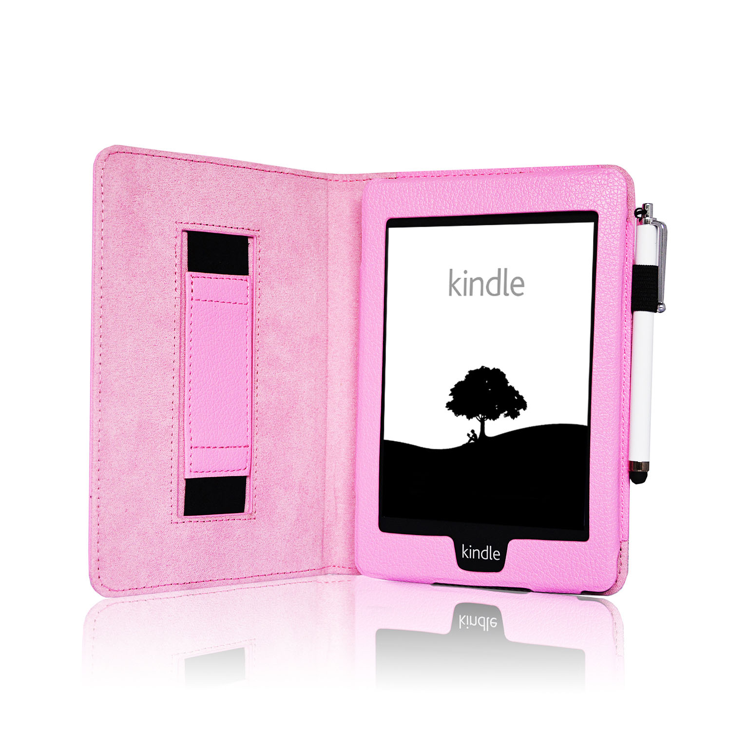 Leather strap smart case cover for amazon kindle for Casa amazon
