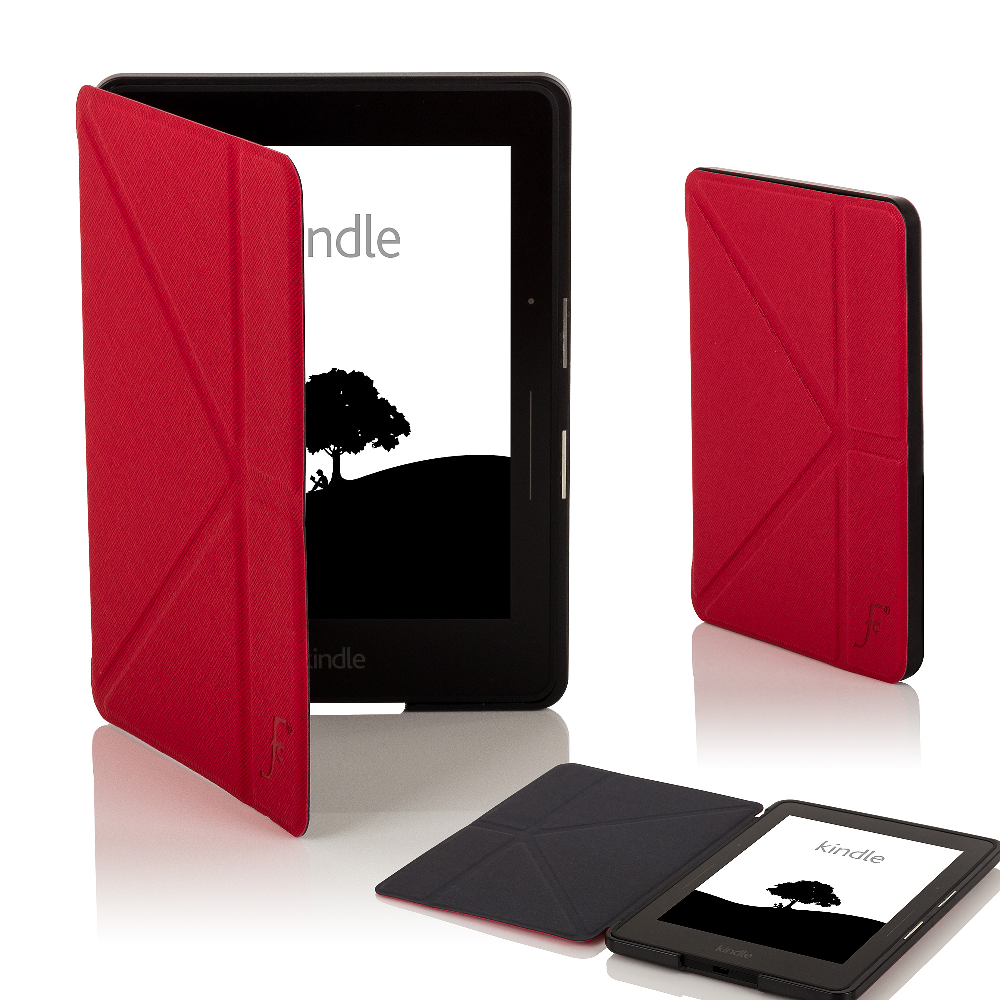 Leather smart origami case cover for amazon kindle voyage for Casa amazon