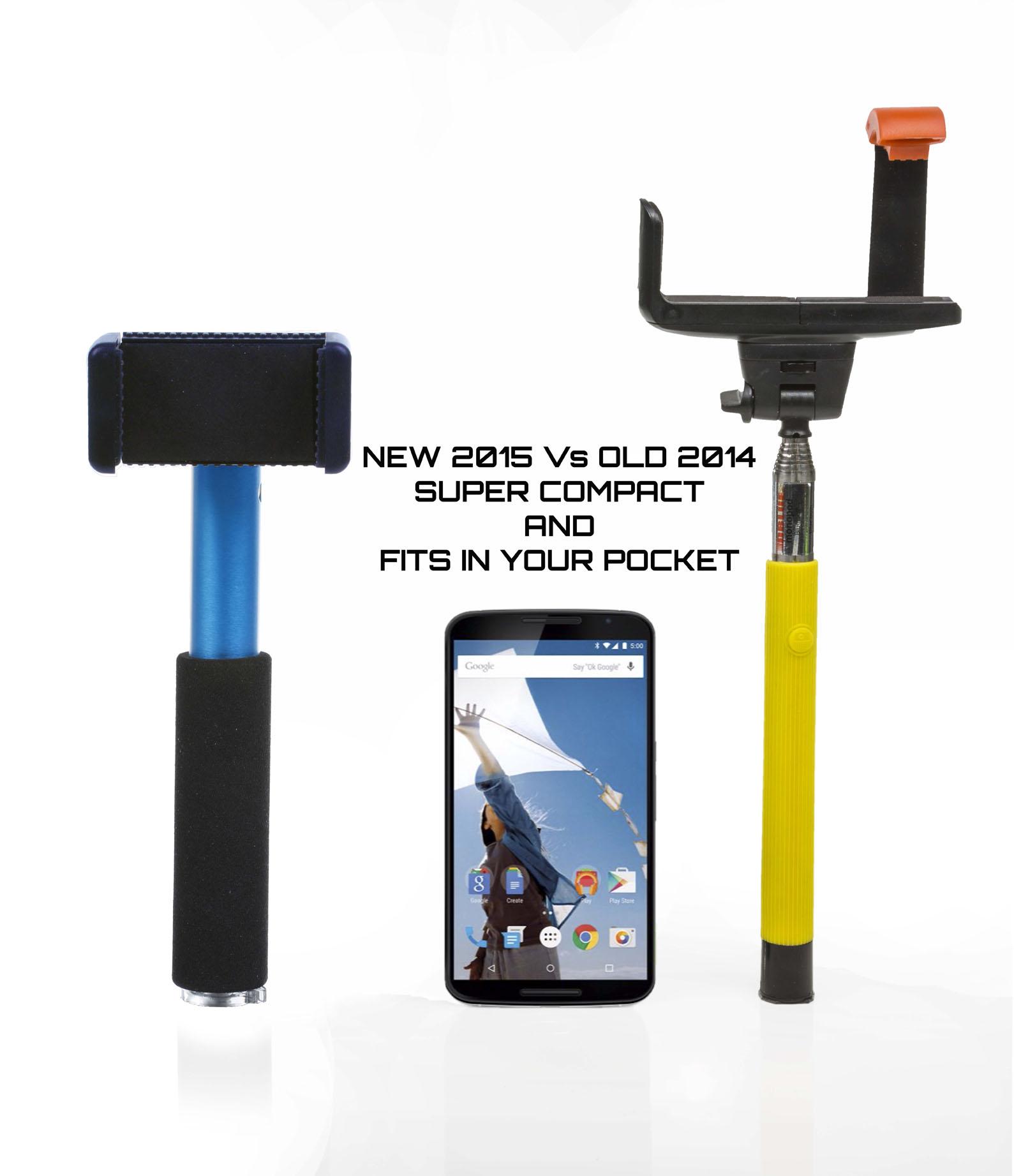 motorola monopod selfie stick 75cm telescopic compact bluetooth tripod remo. Black Bedroom Furniture Sets. Home Design Ideas