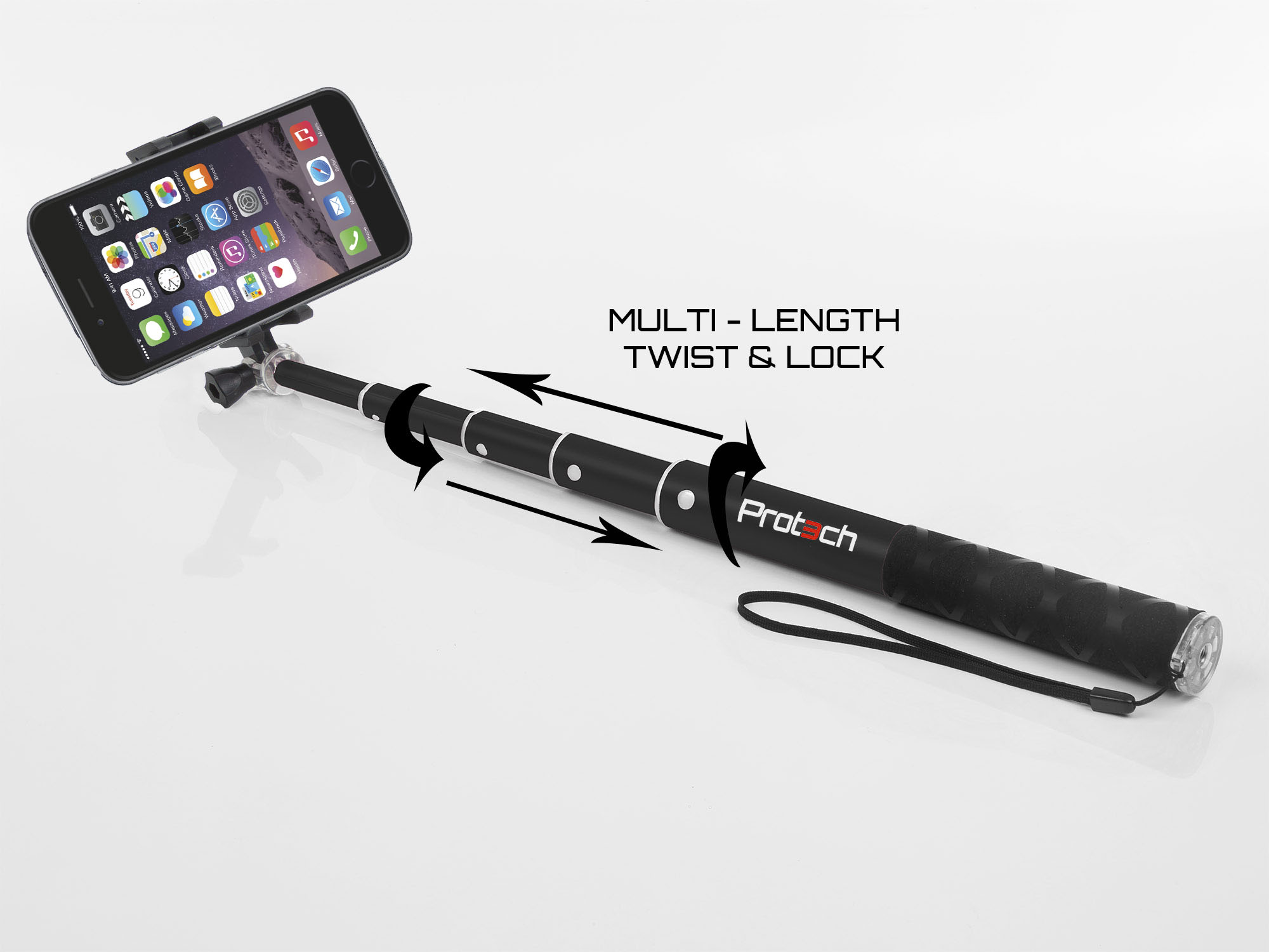 apple iphone monopod selfie stick 60cm telescopic compact bluetooth wireless ebay. Black Bedroom Furniture Sets. Home Design Ideas