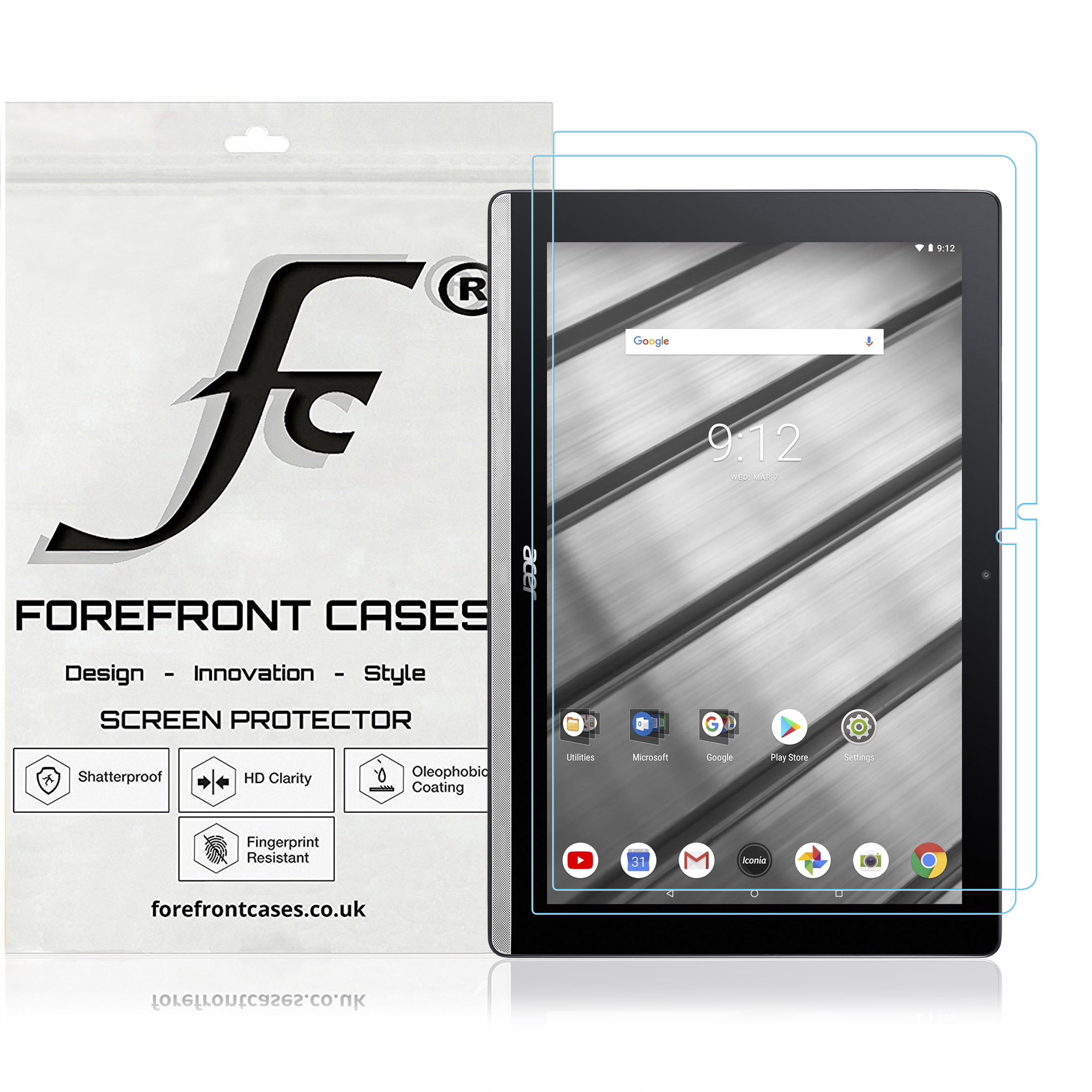 """3 Pack Clear Tablet Screen Protector Guard For 10.1/"""" Acer Iconia One 10"""