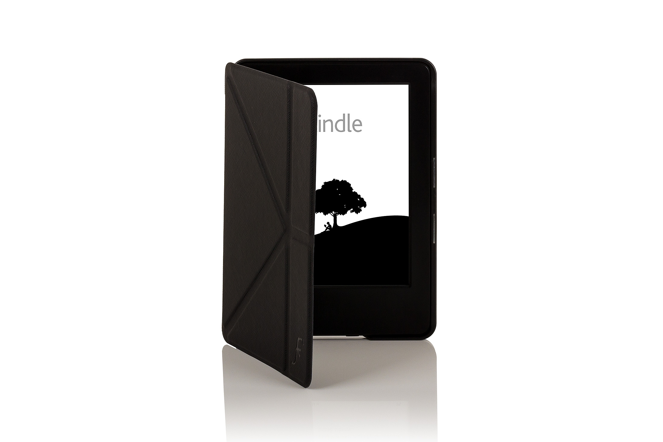 Leather Smart Origami Case Cover For Amazon Kindle With