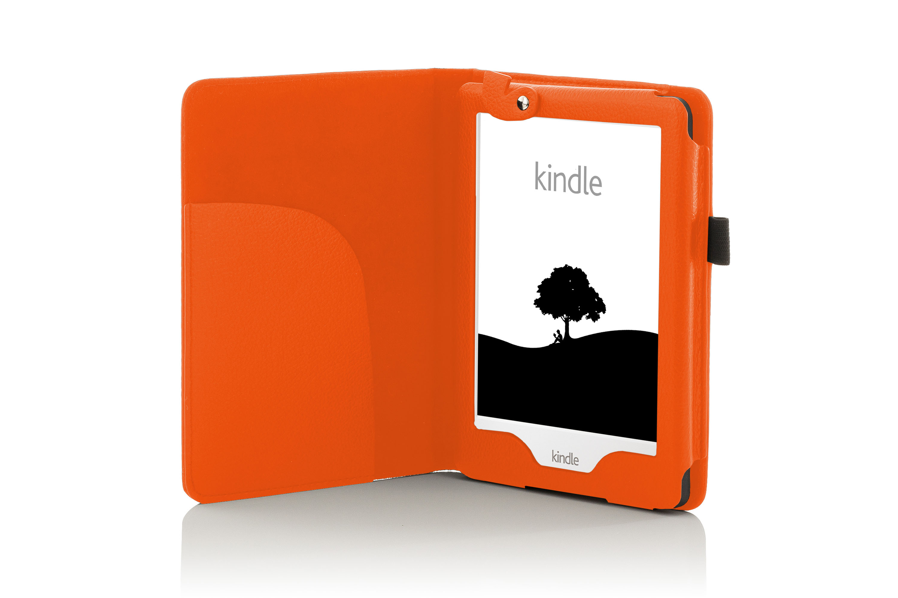 Forefront Cases® Leather Case Cover with LED Light Amazon Kindle 2016 8th  Gen