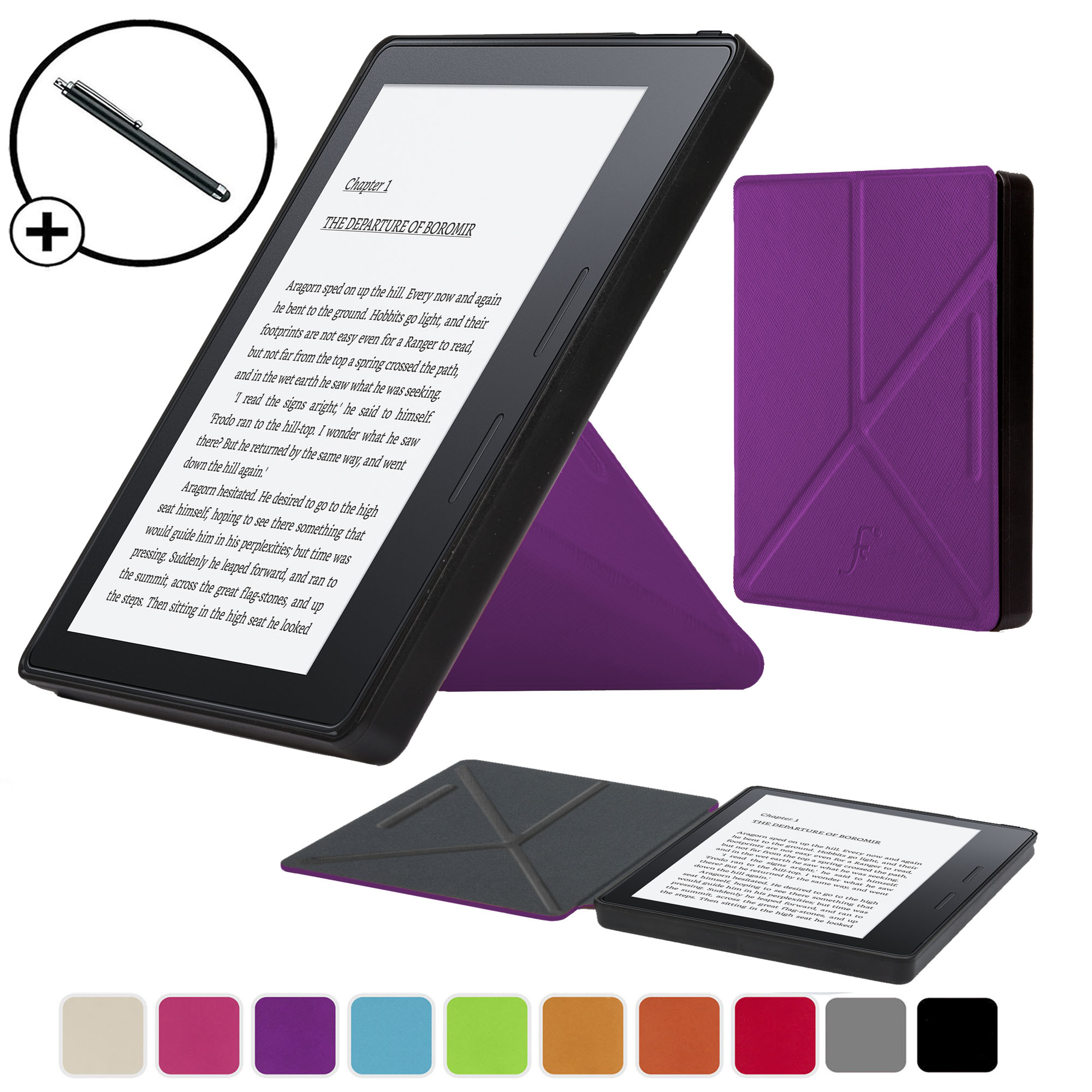 Details about Forefront Cases Purple Origami Smart Case Cover Amazon Kindle  Oasis 2016 Stylus