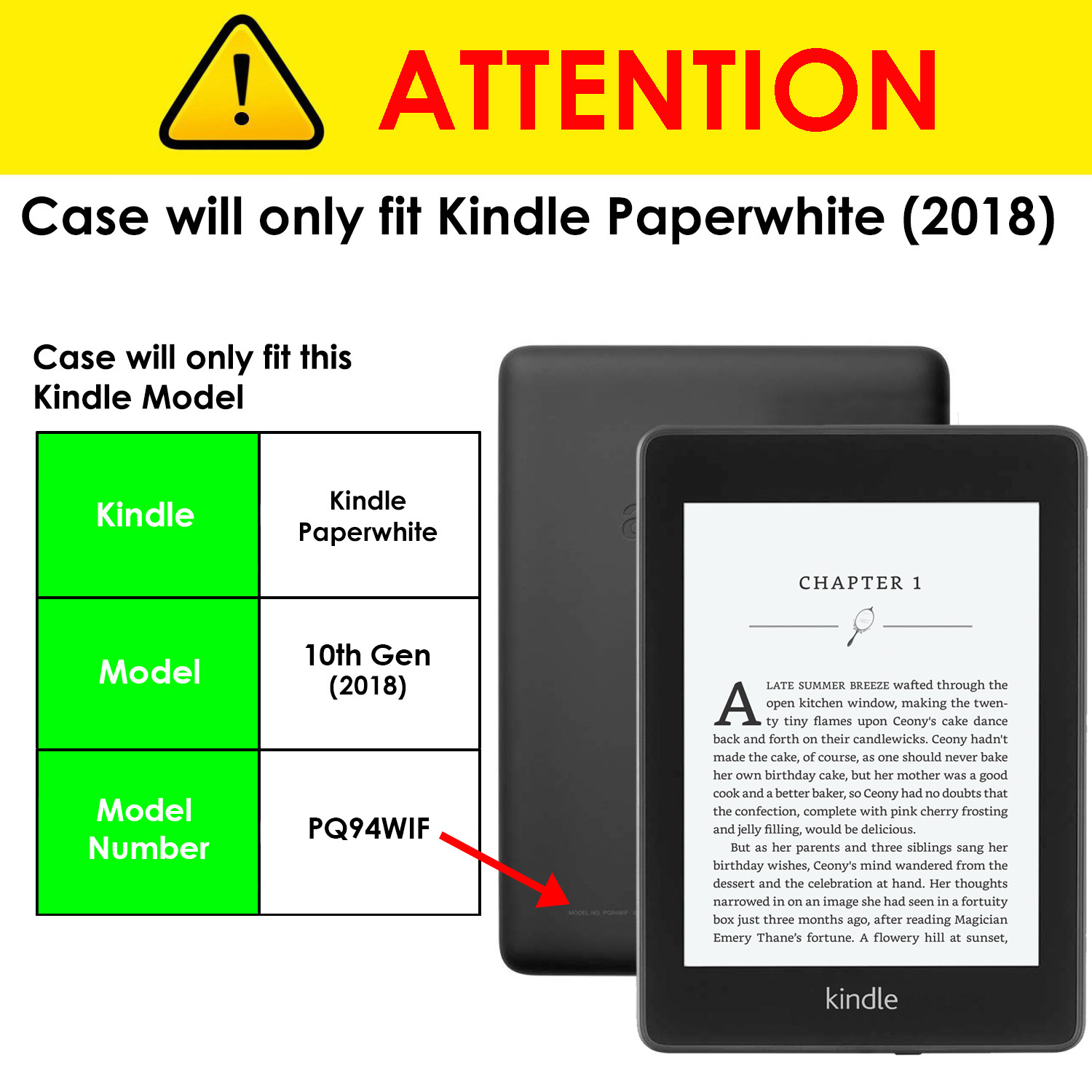 Kindle-Paperwhite-2018-Case-Smart-Protective-Cover-Case-Slim-Lightweight-Shell miniatuur 13