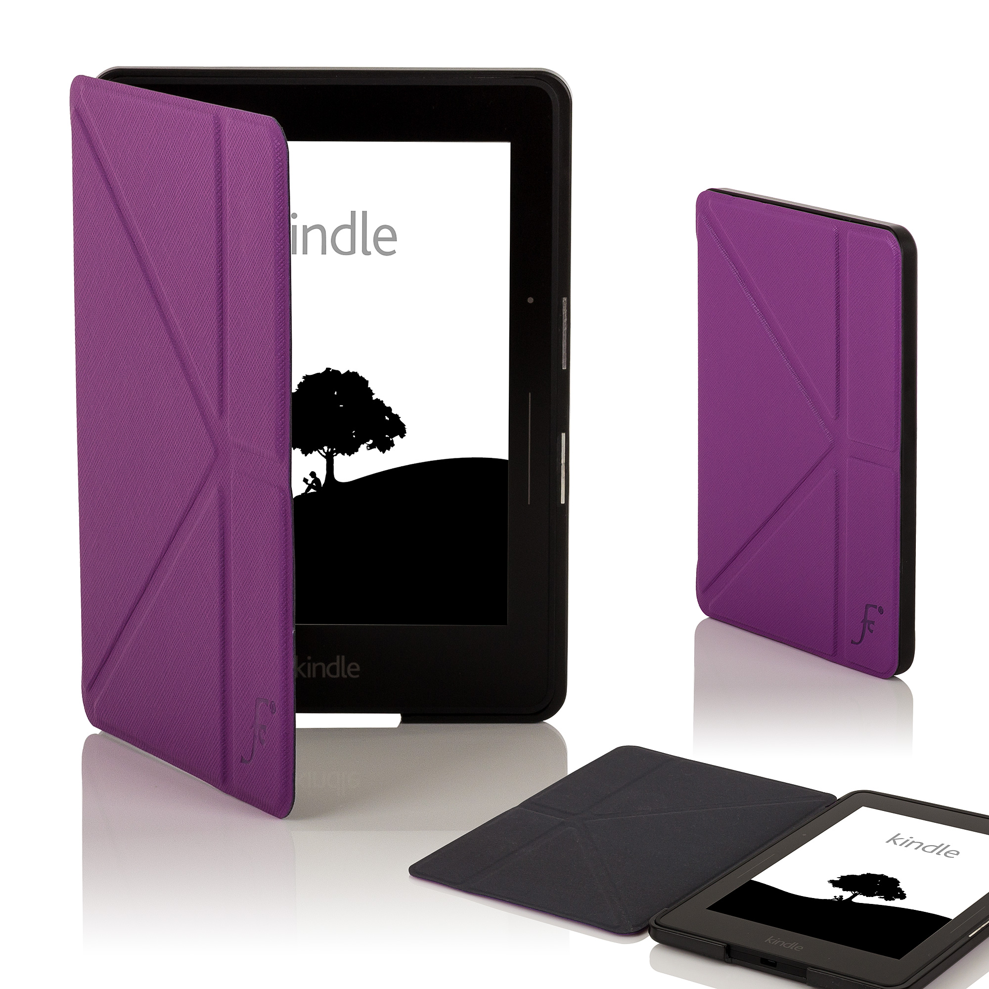 Leather smart origami case cover for amazon kindle voyage for Amazon casa