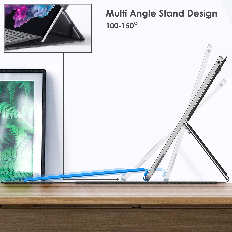 miniatura 4 - 7/6/5/4 Microsoft Surface Pro Custodia, Copertura, stand + Stylus, Protezione Schermo