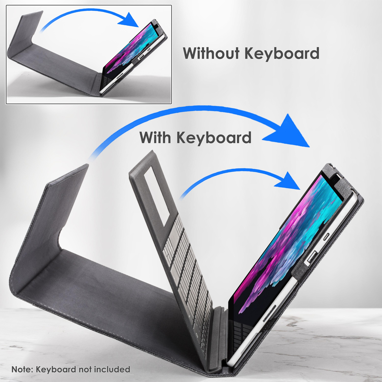 miniatura 8 - 7/6/5/4 Microsoft Surface Pro Custodia, Copertura, stand + Stylus, Protezione Schermo