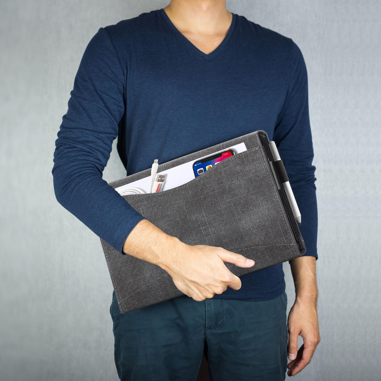 miniatura 9 - 7/6/5/4 Microsoft Surface Pro Custodia, Copertura, stand + Stylus, Protezione Schermo