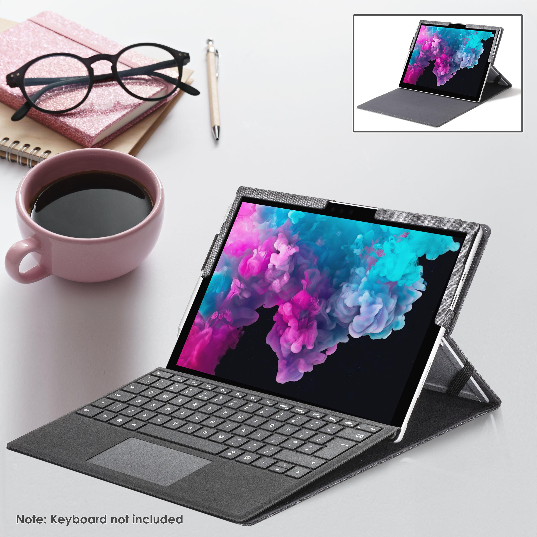 miniatura 12 - 7/6/5/4 Microsoft Surface Pro Custodia, Copertura, stand + Stylus, Protezione Schermo