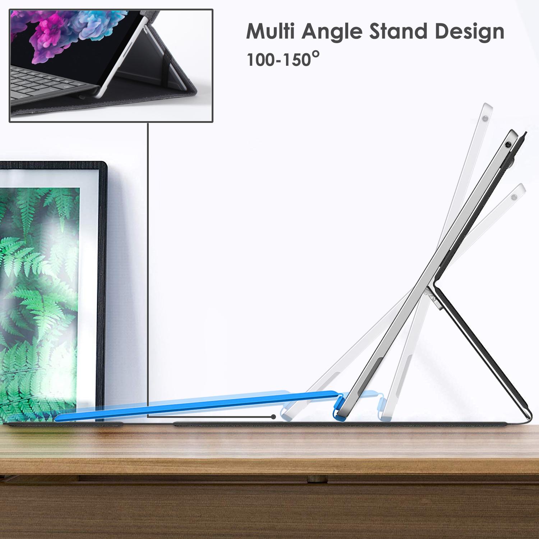 miniatura 22 - 7/6/5/4 Microsoft Surface Pro Custodia, Copertura, stand + Stylus, Protezione Schermo