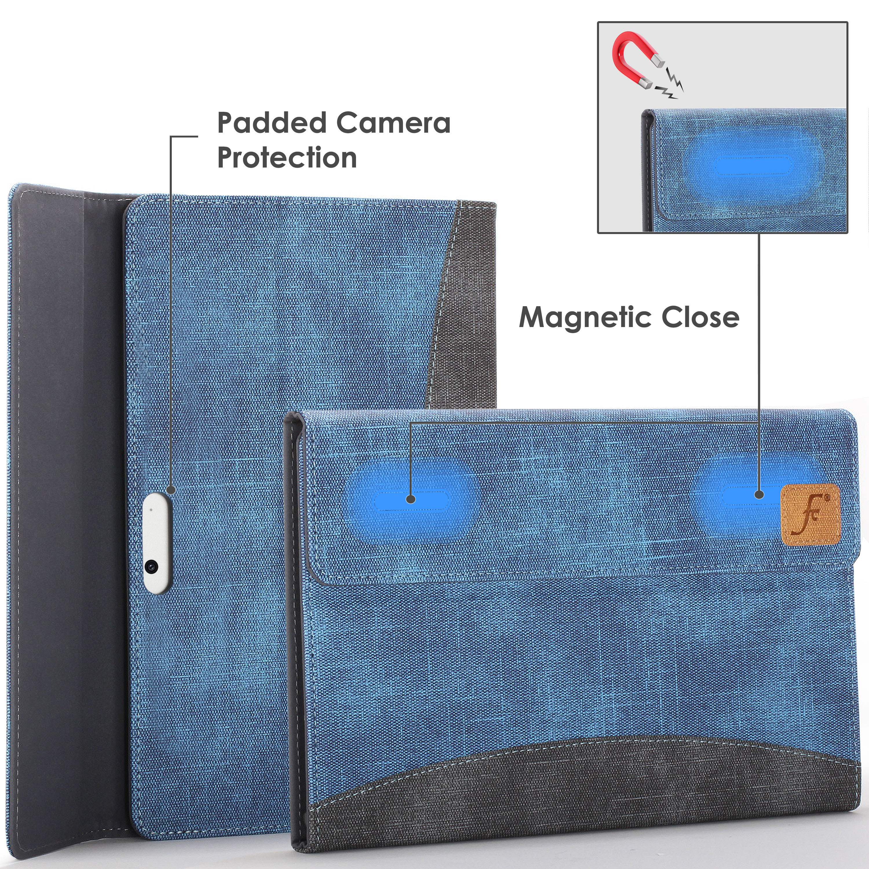 miniatura 32 - 7/6/5/4 Microsoft Surface Pro Custodia, Copertura, stand + Stylus, Protezione Schermo