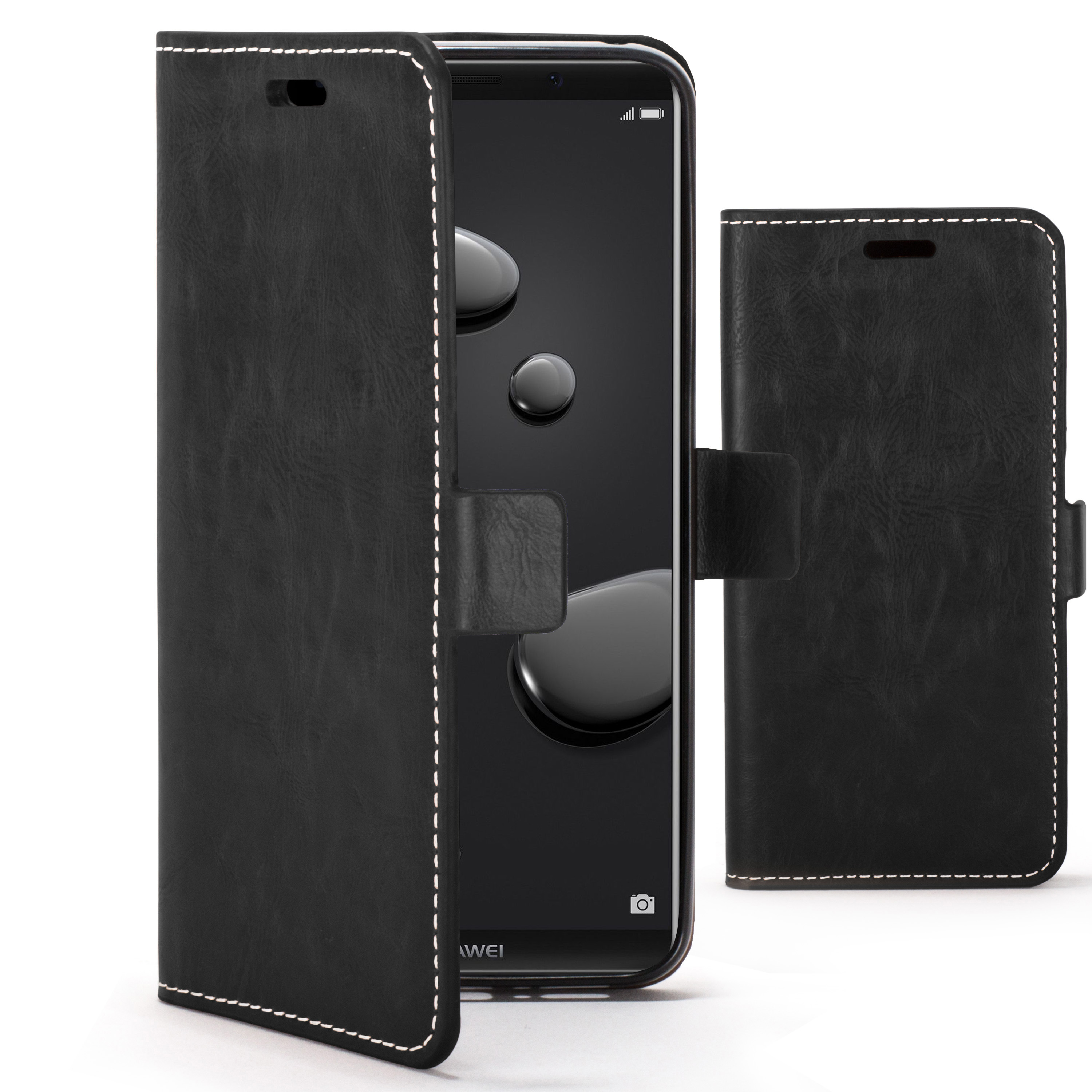 separation shoes 94a82 fac1b Details about Huawei Mate 10 Pro Case   Handmade PU Leather Premium Flip  Cover Wallet + Stylus