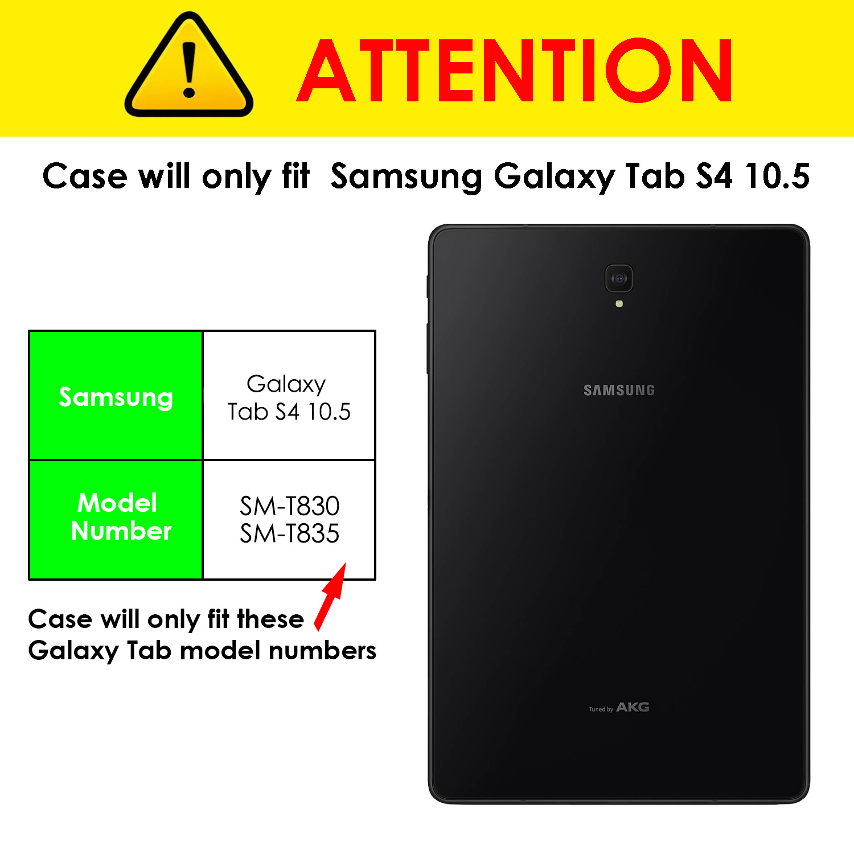 Samsung-Galaxy-Tab-S4-10-5-Estuche-Cubierta-para-Galaxy-Tab-S4-T830-Stylus-Pantalla-Prot miniatura 4