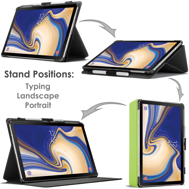 Samsung-Galaxy-Tab-S4-10-5-Estuche-Cubierta-para-Galaxy-Tab-S4-T830-Stylus-Pantalla-Prot miniatura 21