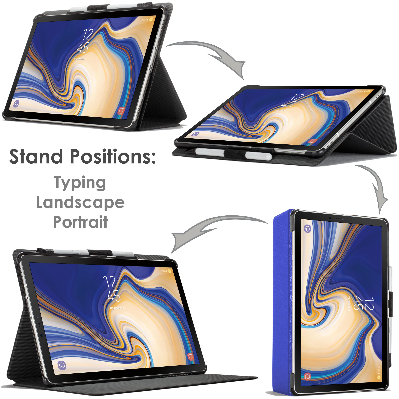 Samsung-Galaxy-Tab-S4-10-5-Estuche-Cubierta-para-Galaxy-Tab-S4-T830-Stylus-Pantalla-Prot miniatura 77