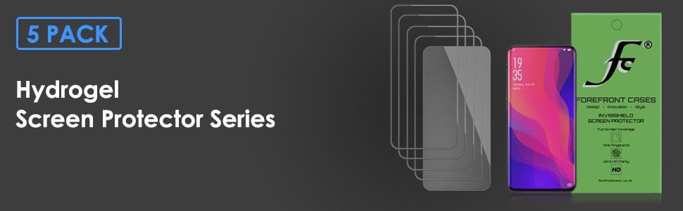 Oppo Hidrogel Screen Protector Find X 5 Pack Cubierta De Protección Película HD claro delgada